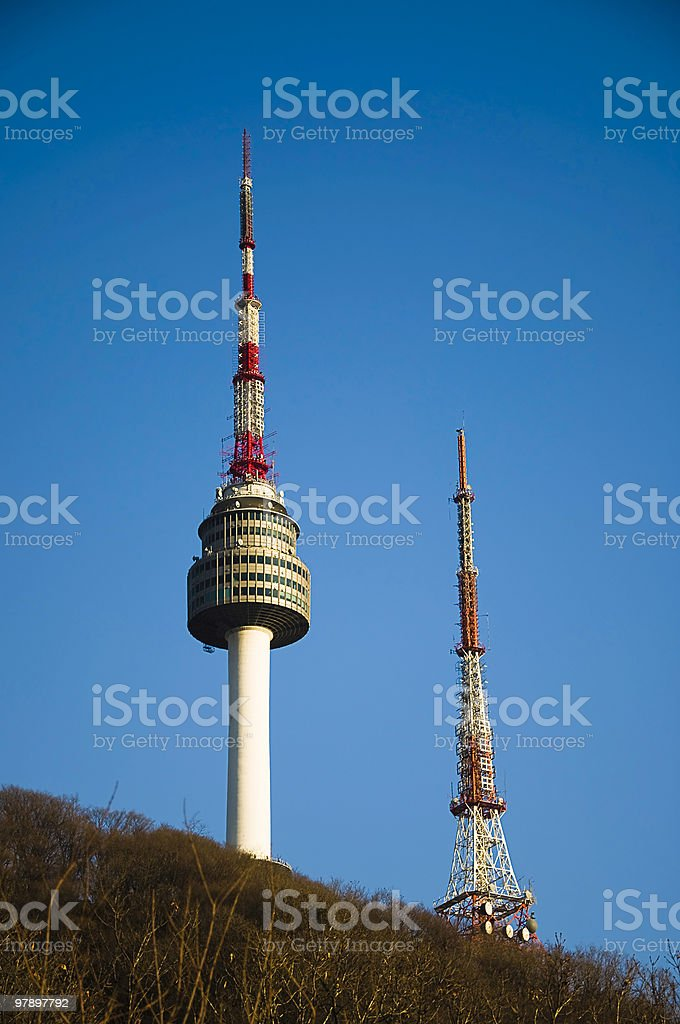 Namsan Tower royalty-free stock photo