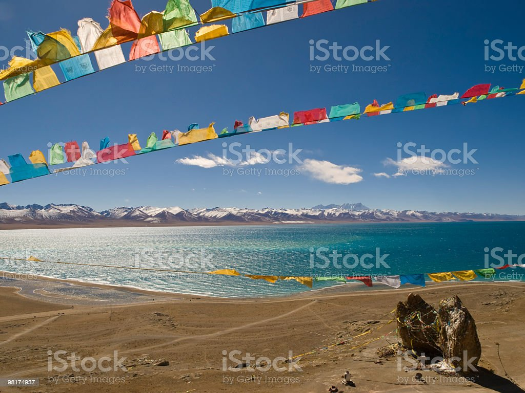 Namtso in Tibet stock photo