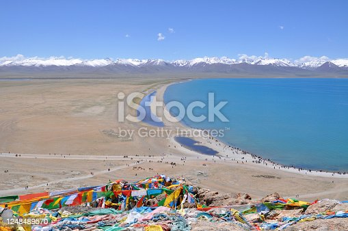 namtso lake view in Tibet