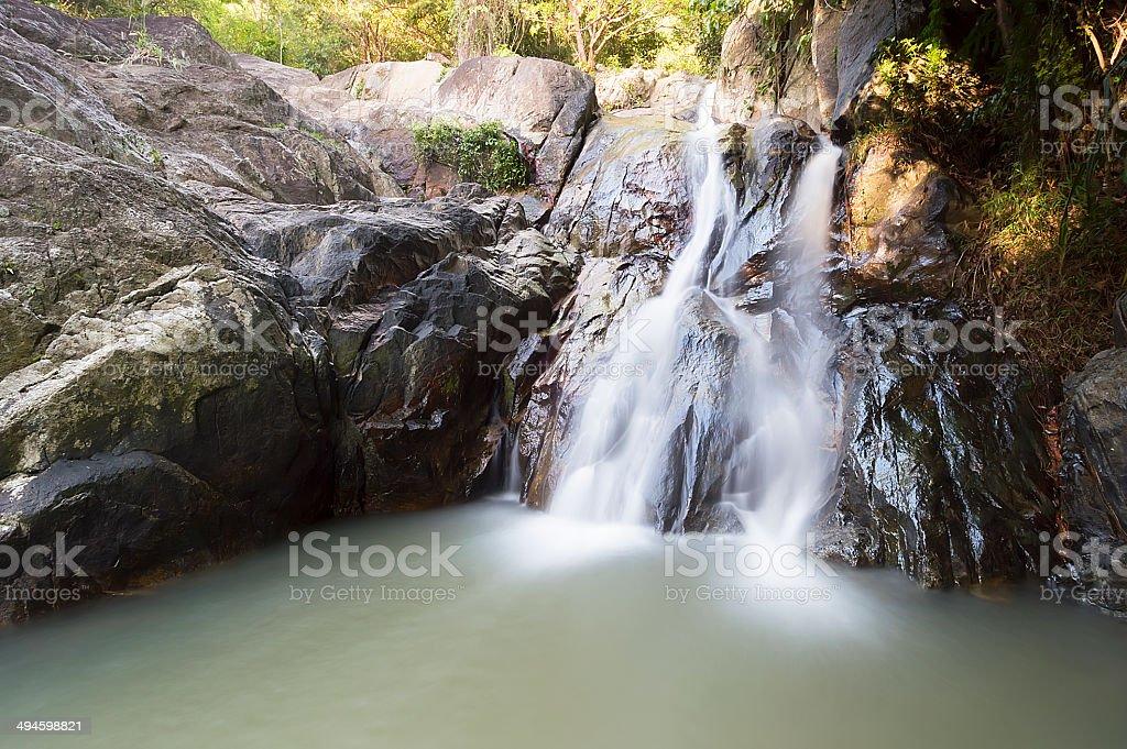 Namuang waterfall, Ko Samui, Thailand royalty-free stock photo