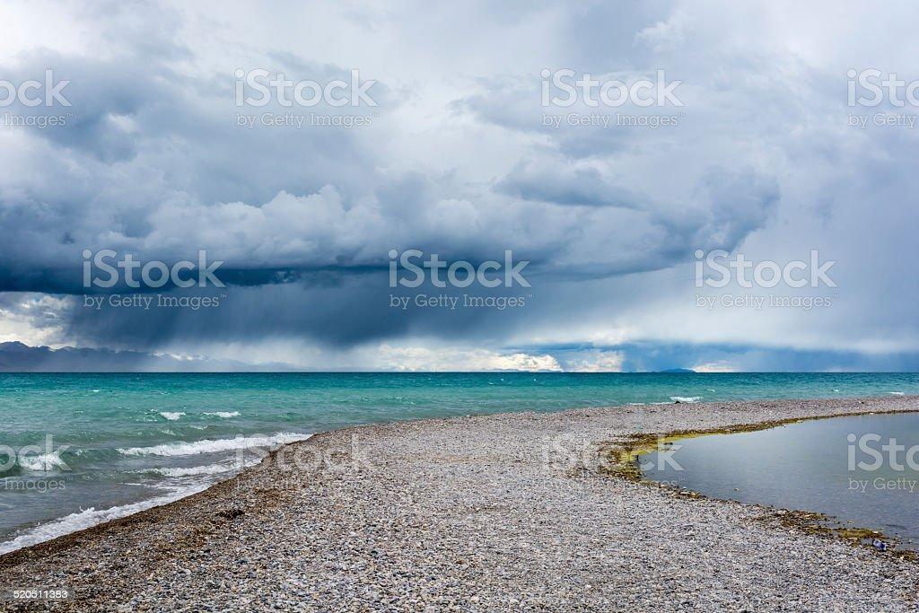 namucuo lake stock photo