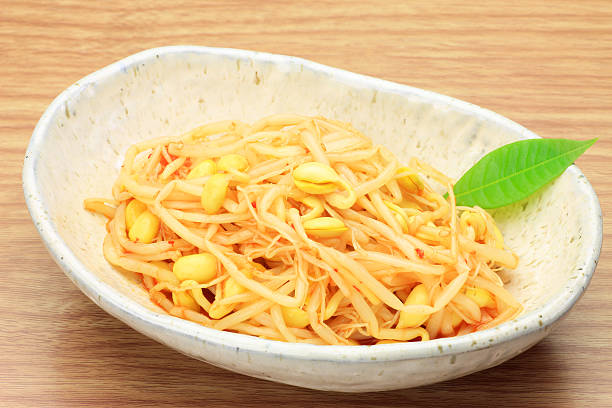 namul of bean sprouts stock photo