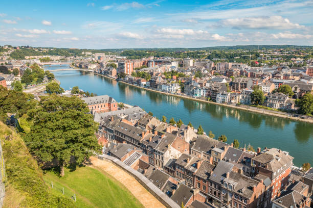 Namur Belgium View of Namur meuse river stock pictures, royalty-free photos & images