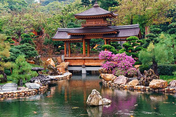 nan lian garden at diamond hill in hong kong - lian empty imagens e fotografias de stock