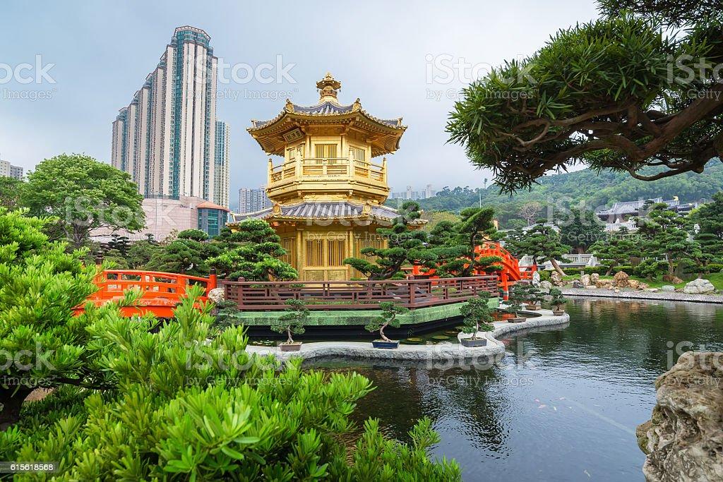 Nan Lian Garden at hongkong stock photo
