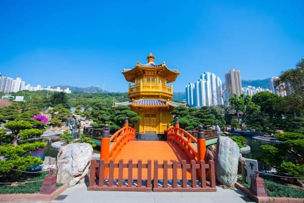 nan lian garden - beautiful garden in town, hong kong - lian empty imagens e fotografias de stock
