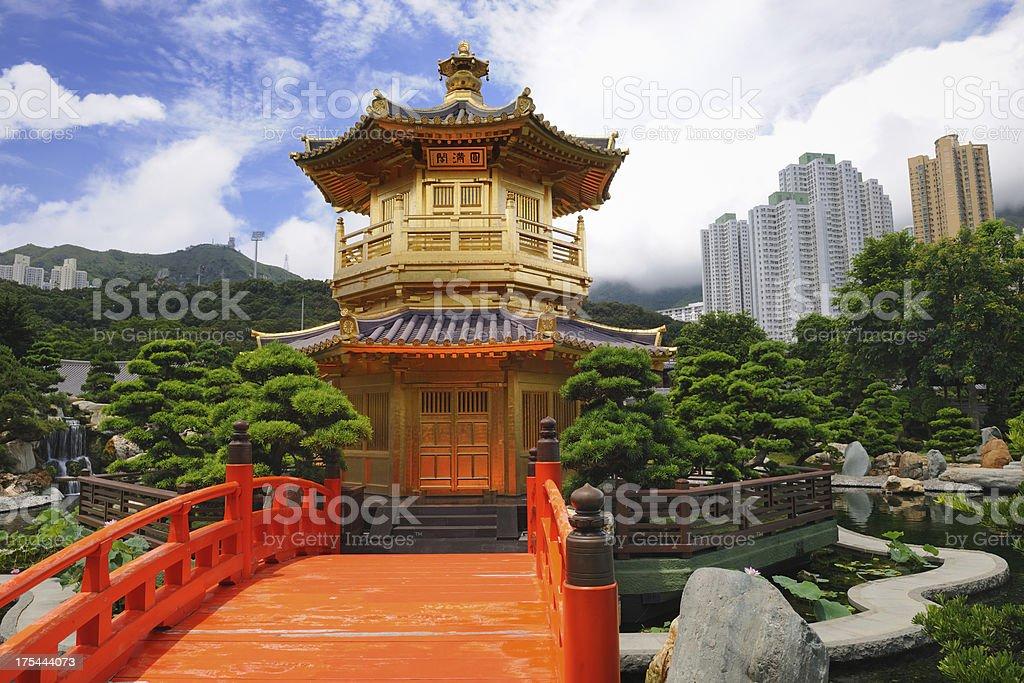 Nan Lian Garden, Chi Lin Nunnery, Diamond Hills, Hong Kong stock photo