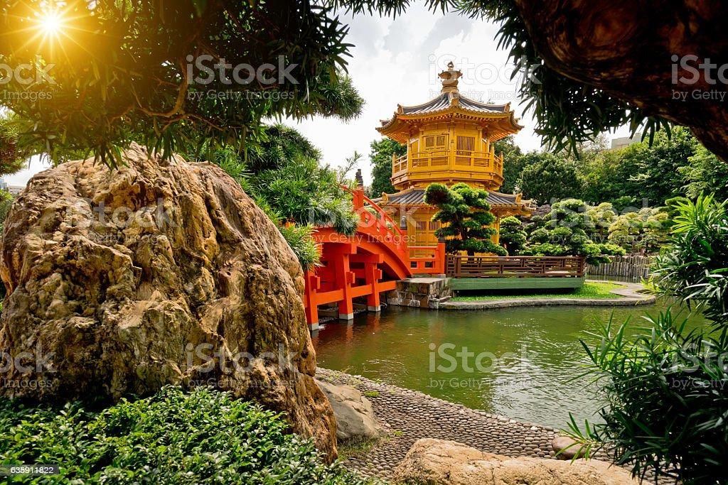 Nan Lian Garden, Diamond Hills, Hong Kong stock photo