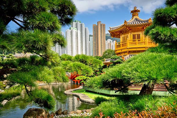 nan lian garten, diamant hügel, hong kong - kowloon stock-fotos und bilder