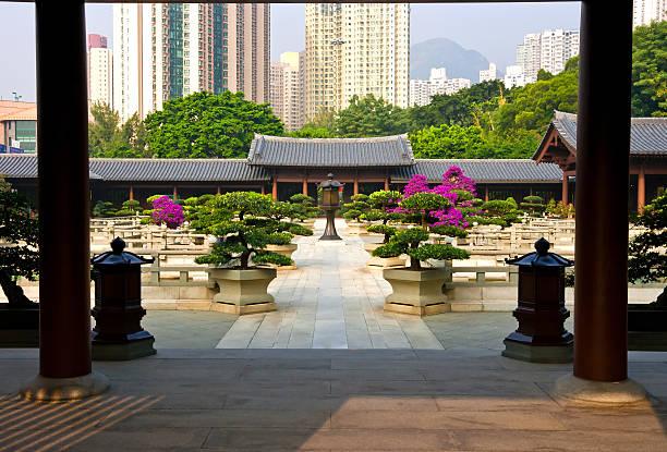nan lian jardim hong kong - lian empty imagens e fotografias de stock