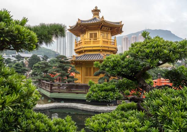 nan lian garden in diamond hill area of hong kong - lian empty imagens e fotografias de stock