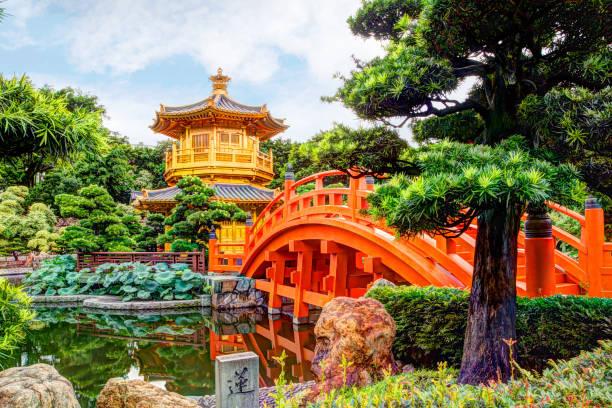 nan lian garden in diamond hill, hong kong - kowloon stock-fotos und bilder