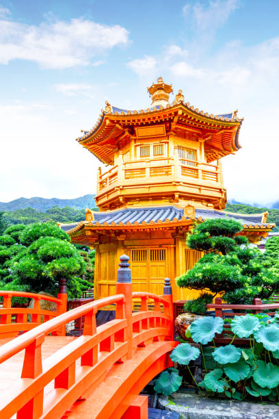 nan lian garden in diamond hill, hong kong - lian empty imagens e fotografias de stock