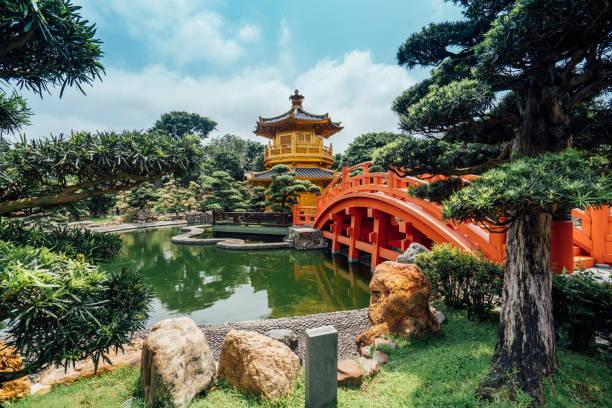 nan lian garden in hong kong - lian empty imagens e fotografias de stock