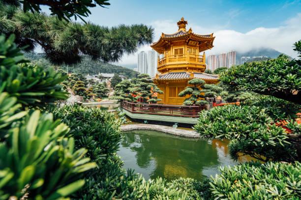 nan lian garden in hong kong - kowloon stock-fotos und bilder