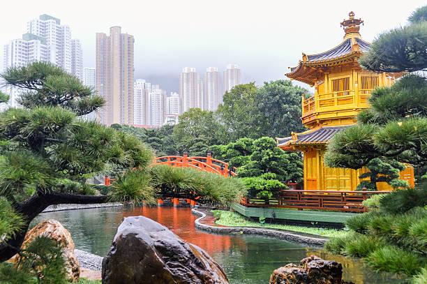nan lian jardim em hong kong - lian empty imagens e fotografias de stock