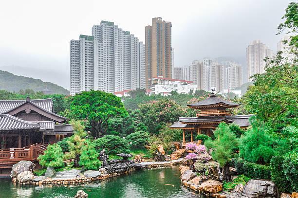 gartens nan lian in hong kong - kowloon stock-fotos und bilder