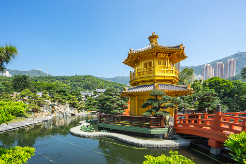 Nan Lian Garden Landmark In Hong Kong City Hong Kong Stock Photo - Download Image Now