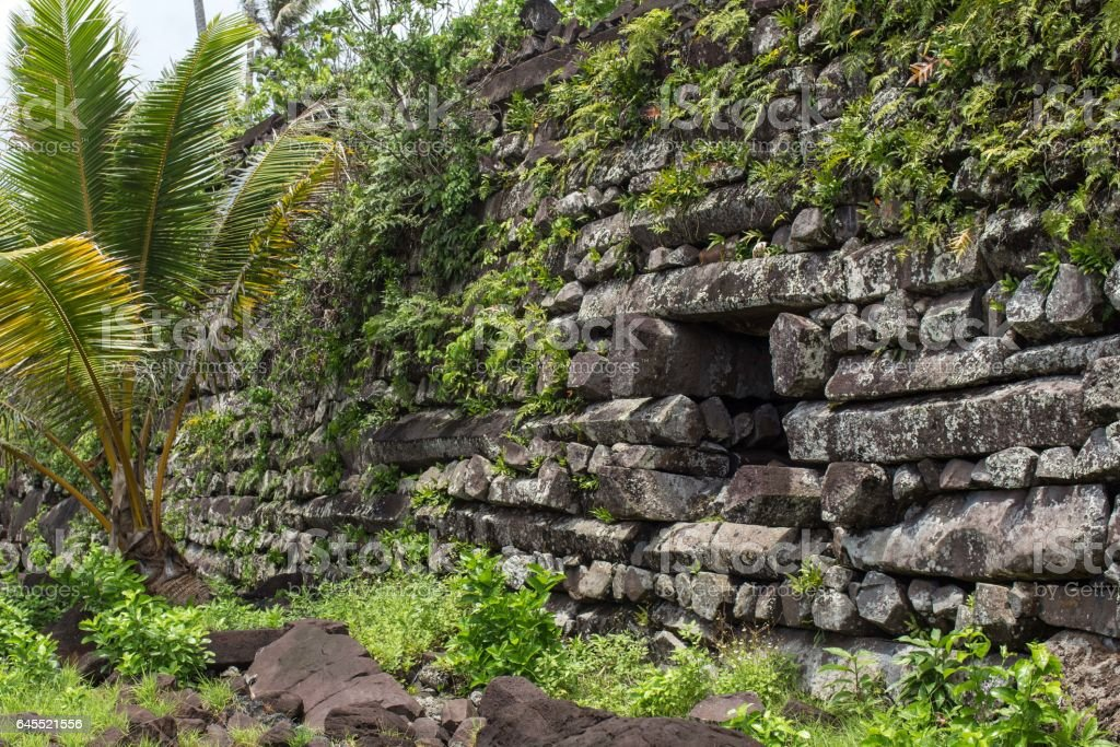 Nan Madol Ruins stock photo