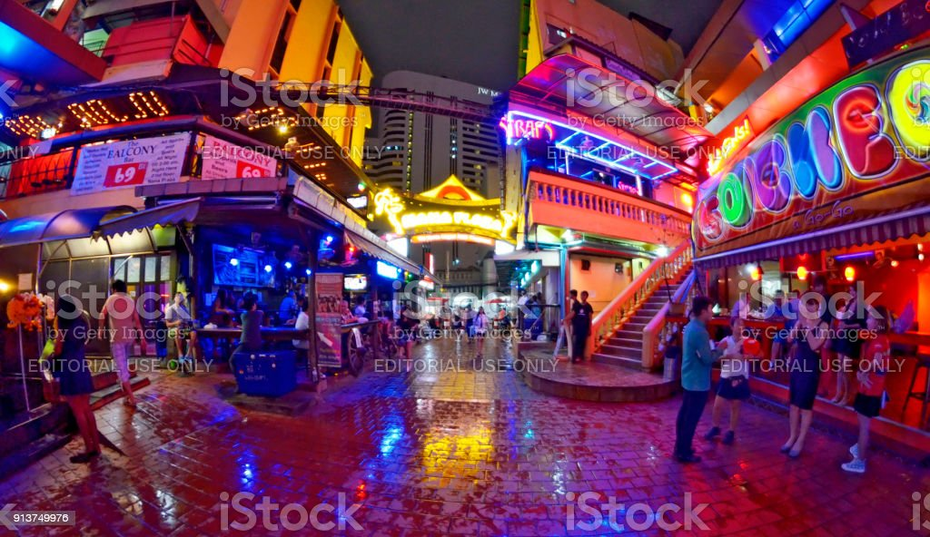Nana Plaza In Bangkok Waiting For The First Tourists Of