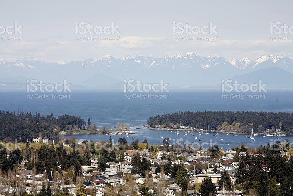 Nanaimo Vancouver Island The Harbour City. British Columbia stock photo