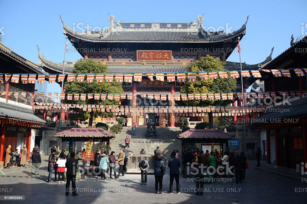 Nanchan Temple, Wuxi, Jiangsu province, China royalty-free stock photo