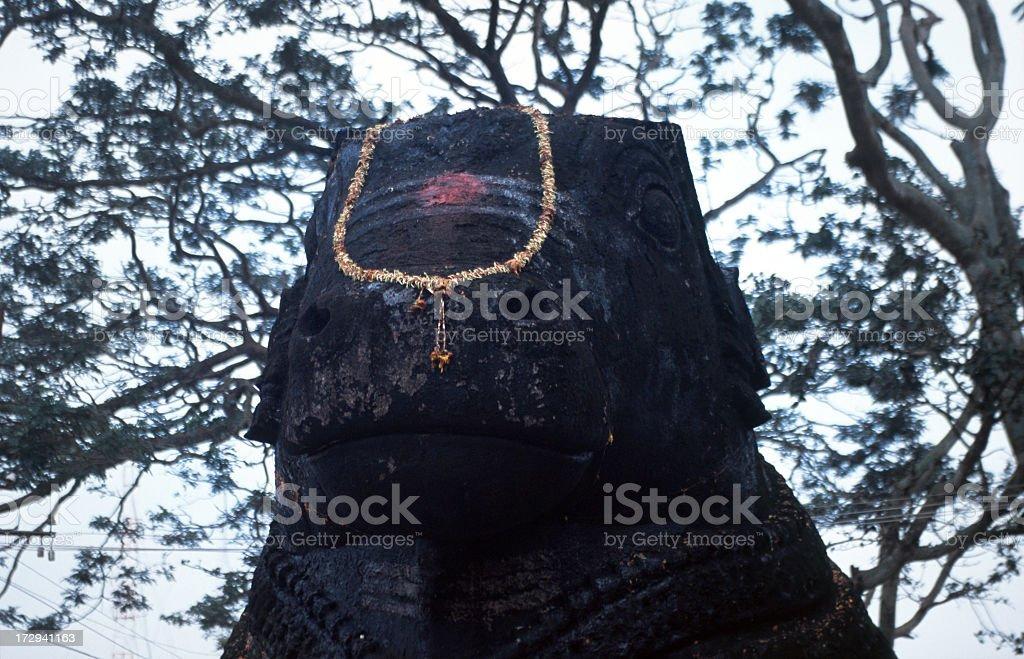 Nandi statue stock photo