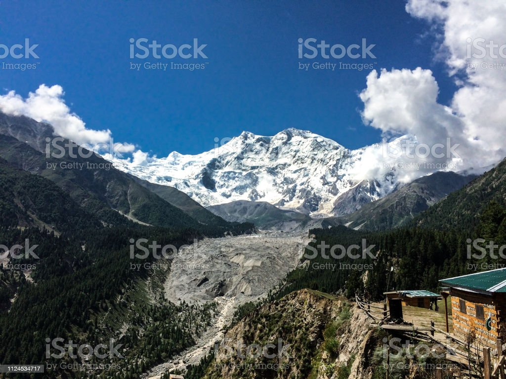 Nanga Parbat View From Fairy Meadows Stock Photo Download Image