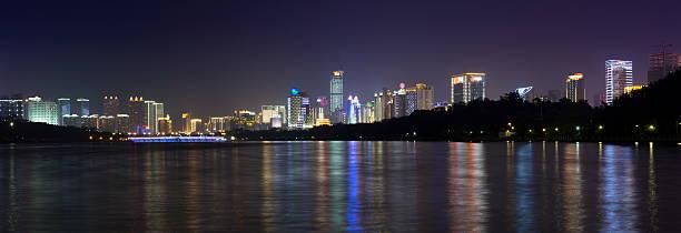 nanning modern business city area with high buildings - lian empty imagens e fotografias de stock