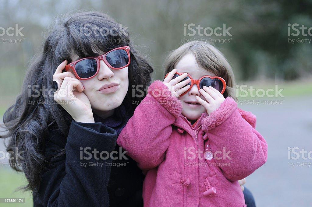 Nanny and girl royalty-free stock photo