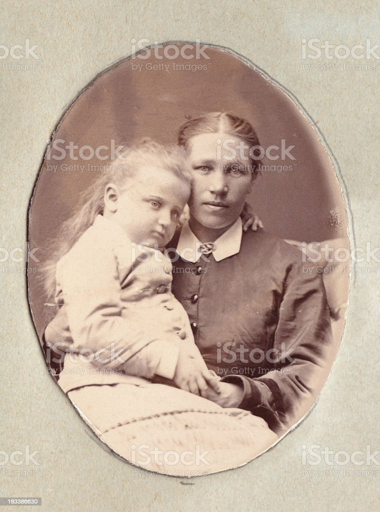 Nanny (or mother) with child royalty-free stock photo
