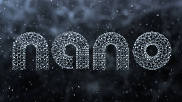 "nano 3d word ""nano"" made of nano tubes nanoparticle stock pictures, royalty-free photos & images"