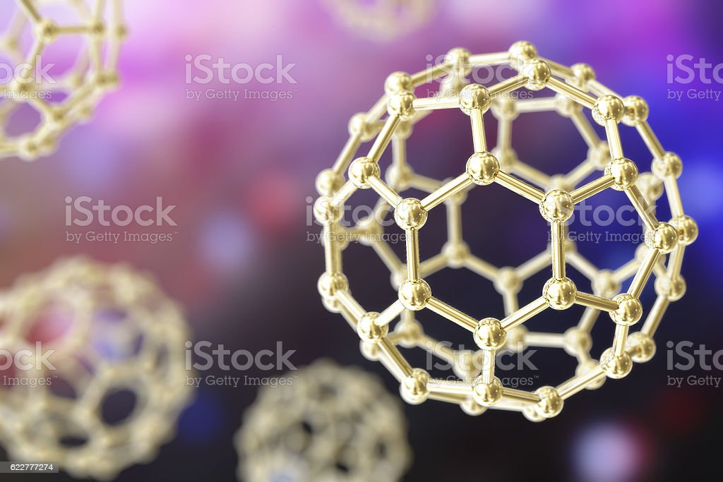 Nanoparticles on colorful background stock photo