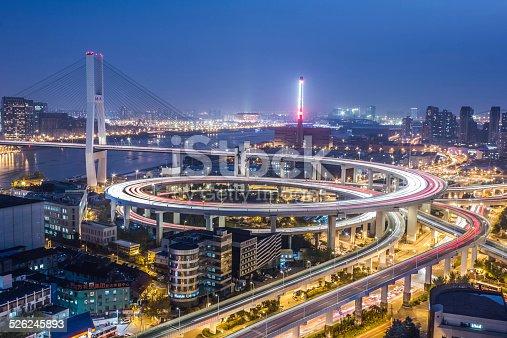 544101220 istock photo Nanpu Bridge at Night 526245893