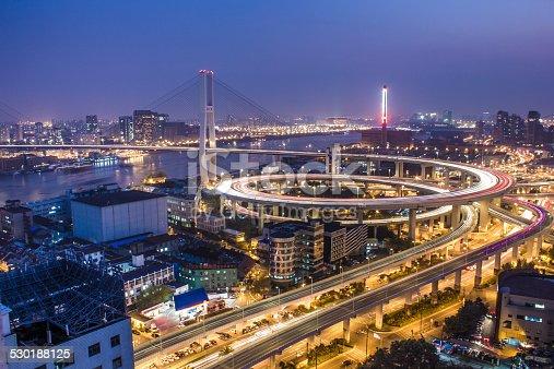 544101220 istock photo Nanpu Bridge at Night 530188125