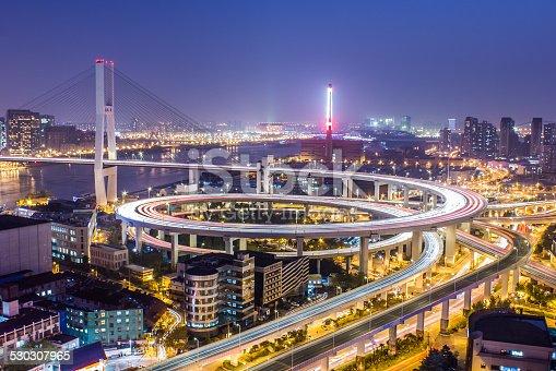 544101220 istock photo Nanpu Bridge at Night 530307965