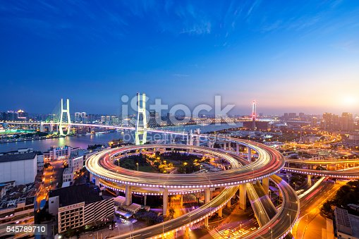 istock Nanpu Bridge at Sunset, Shanghai 545789710