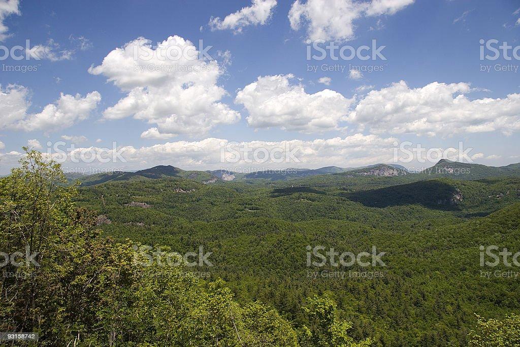 Nantahala National Forest in North Carolina stock photo