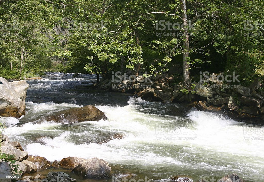 Nantahala River stock photo