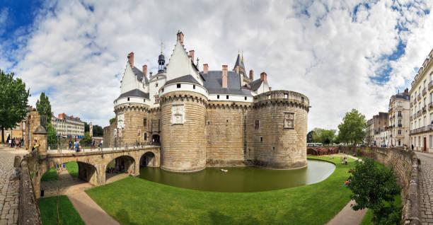 Nantes castle panorama stock photo