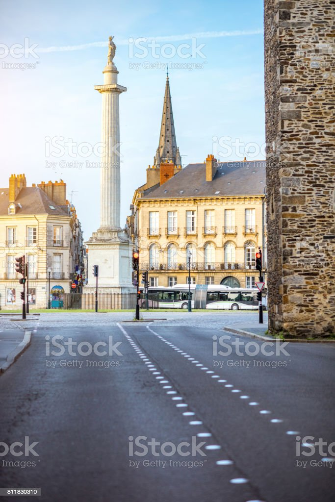 Nantes city in France stock photo