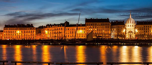 Nantes panorama across Loire River – Foto