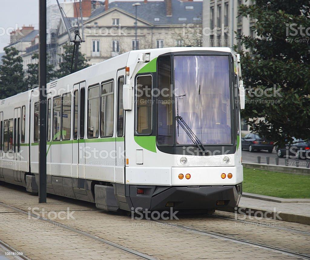 Nantes tram stock photo