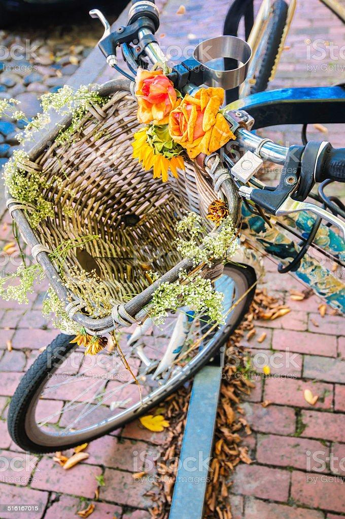 Nantucket Bike Basket stock photo