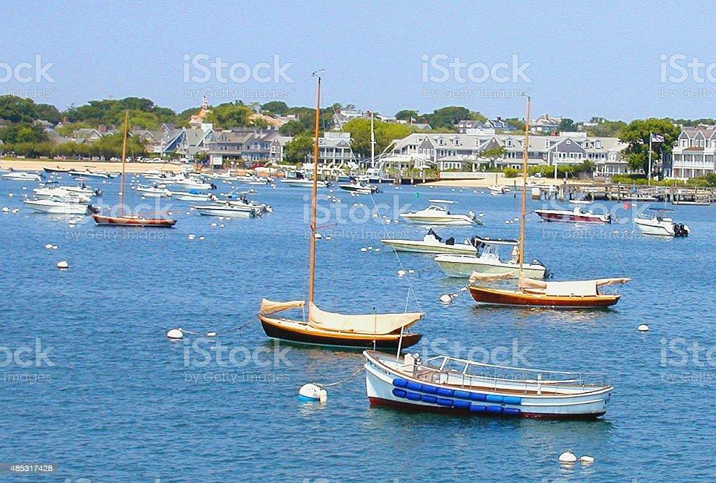 Nantucket Boats stock photo