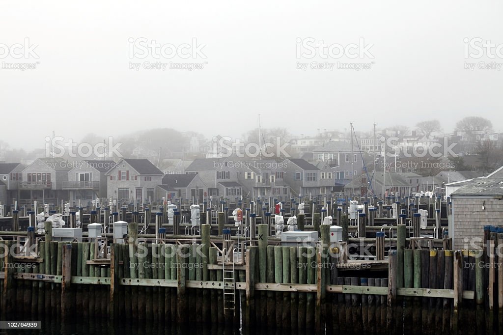 Nantucket Docks stock photo