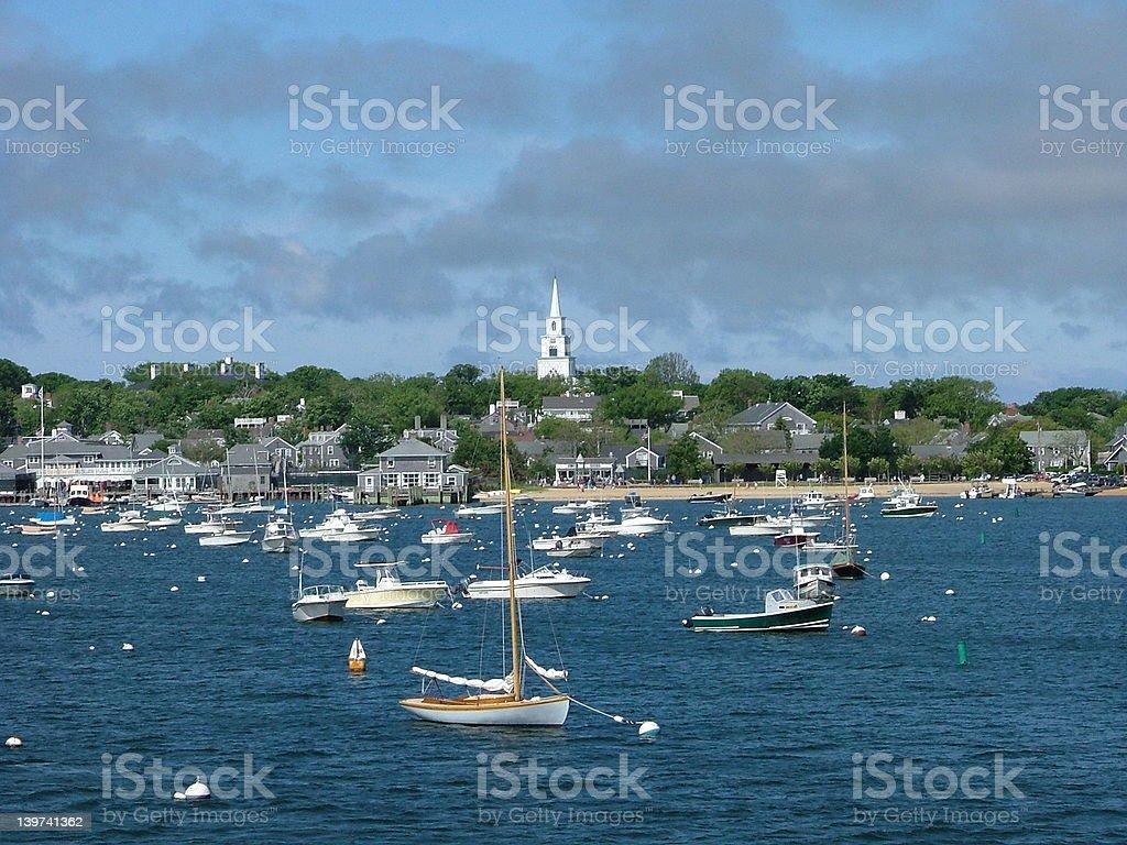 Nantucket Harbor stock photo