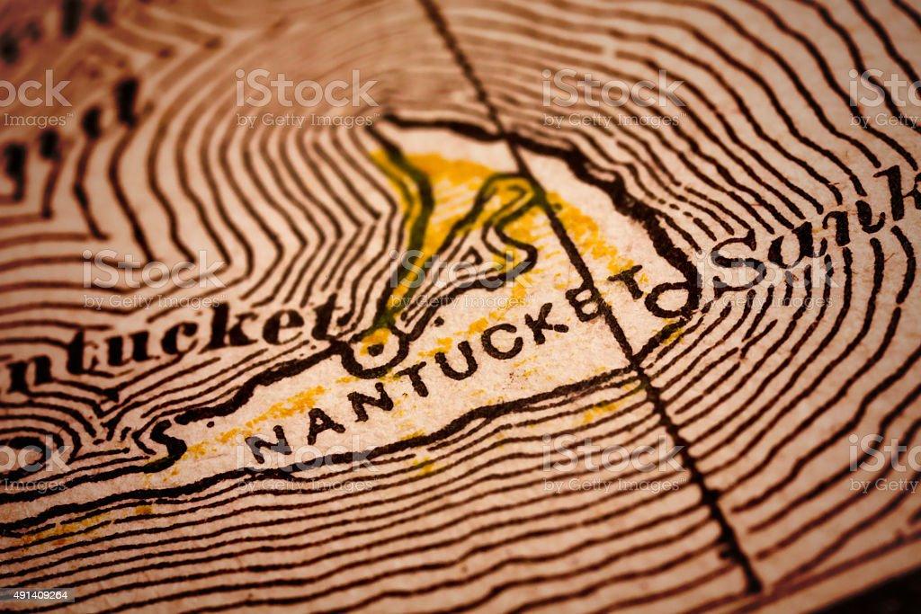 Nantucket   Massachusetts County Maps stock photo