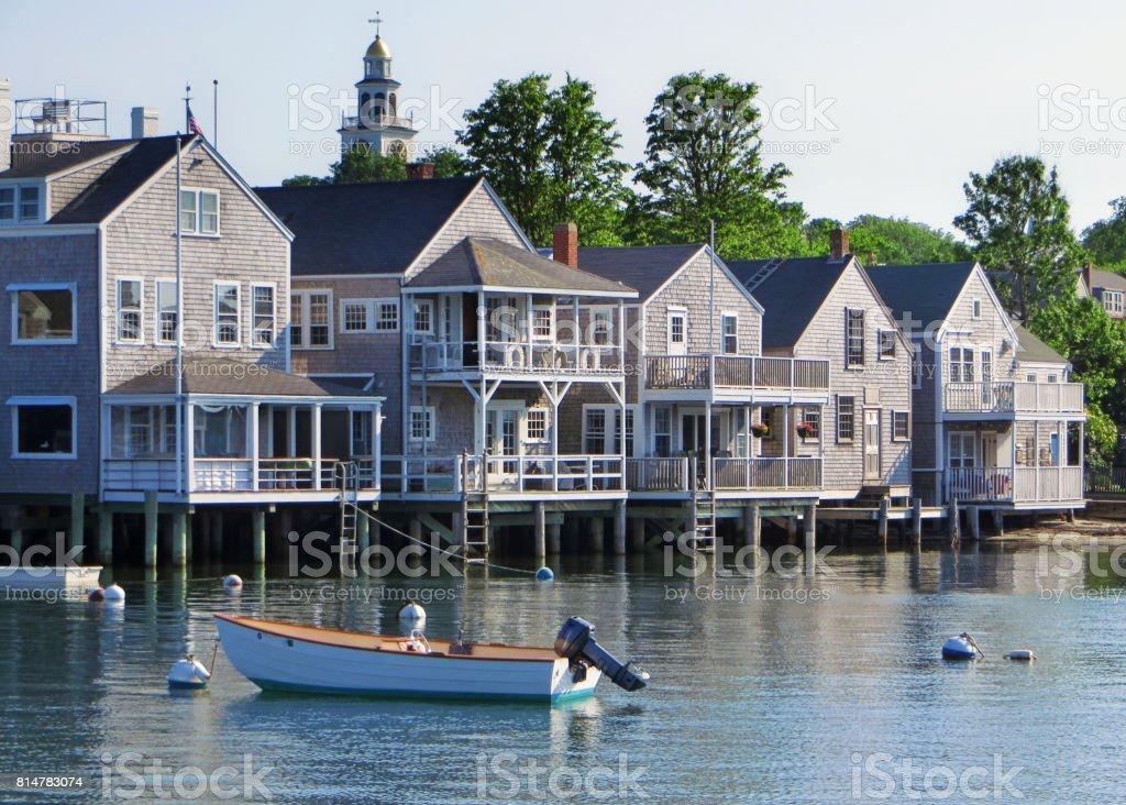 Nantucket Waterfront stock photo