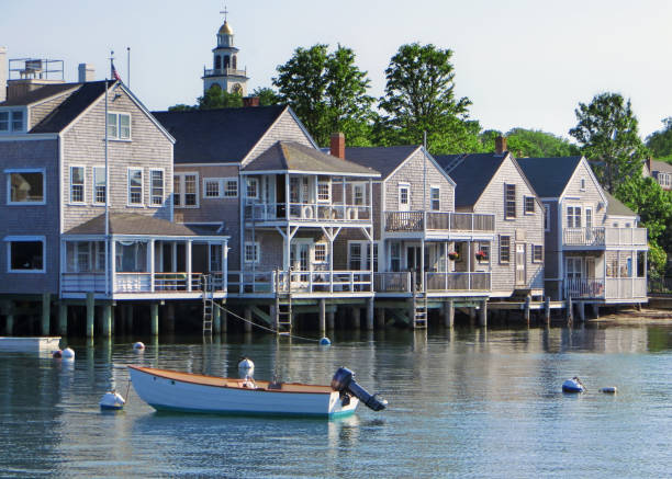 Nantucket Waterfront Massachusetts cape cod stock pictures, royalty-free photos & images
